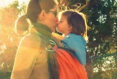 beautiful babywearing