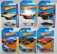 """HOT WHEELS LOT OF 6 1970 CAMARO's 6 DIFFERENT VARIATIONS  HARD TO FIND COLLECTIBLES 1) 2013 SILVER METALLIC '70 CAMARO TOYS R US EXCLUSIVE HW SHOWROOM #221 2) 2013 BLACK '70 CAMARO HW SHOWROOM #221 3) 2012 WHITE '70 CAMARO SS HW CITY #163 4) 2012 RED '70 CAMARO ROAD RACE  HW PERFORMANCE #144 5) 2012 BLACK '70 CAMARO ROAD RACE  HW PERFORMANCE #144 6) 2011 BLUE '70 CAMARO ROAD RACE  NEW MODELS #47 """"ADD THESE COOL CARS TO YOUR COLLECTION BEFORE THEY ARE GONE!!"""", $21.88"""