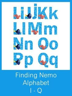 Finding Nemo Alphabet Letters - FREE PDF Download
