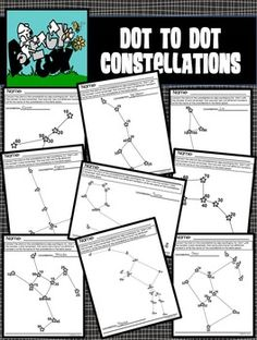 Dot- to-Dot / Connect the Dots Constellation / StarsConnect the Stars to make… Space Theme Classroom, Science Classroom, Teaching Science, Science Resources, Science Projects, Teacher Resources, Outer Space Activities, Math Clipart, Reading Club