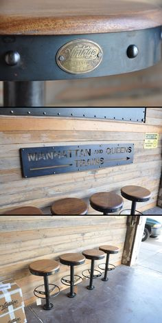 French Industrial Bar Table Restaurant Pub Vintage Bolt