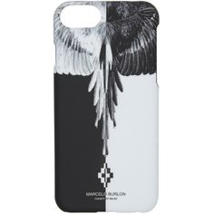 Marcelo Burlon County of Milan Black and White Aike iPhone 7 Case ($63) ❤ liked on Polyvore featuring accessories, tech accessories and black
