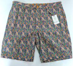 Robert Graham Classic Shorts Blue Havasu Yates  Paisley Linen Cotton Sz 38 #RobertGraham #Shorts Robert Graham, Patterned Shorts, Online Price, Bermuda Shorts, Paisley, Best Deals, Classic, Cotton, Blue