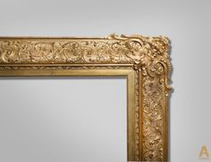 The frame of gilded wood