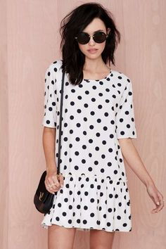 Cute polka dot dress! Great for #spring!