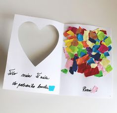 Mothers Day Crafts For Kids, Mothers Day Cards, Construction Paper, Baby Art, Kids Cards, Baby Room, Diy And Crafts, Kindergarten, Day Care