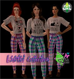 [SLOTH] COLLECTION• Mesh Pants by Verakas, 4t2 by Always Sims • Mesh Tshirts by The Slyd, 4t2 by Always Sims • Mesh shores by Pixicat, 3t2 by Always Sims • Textures by Me DOWNLOAD