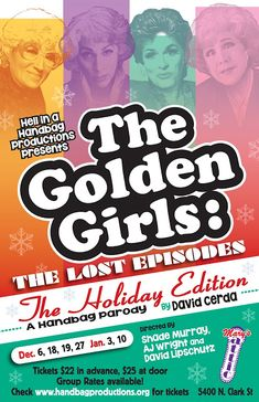 ChiIL Live Shows: THE GOLDEN GIRLS – THE LOST EPISODES THE HOLIDAY EDITION Through 1/10/2018
