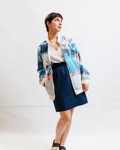 NEW IN // Blousonjacke von @dibasediva mit wundervollen Neonprints - von Hand entworfen und hergestellt! #slowfashion #weloveaustriandesign Style, Fashion, Jackets, Swag, Moda, Fashion Styles, Fashion Illustrations, Outfits