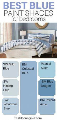 Decor Blue Bedroom Shades 18 New Ideas Blue Bedroom Paint, Boy Room Paint, Blue Bedroom Decor, Bedroom Boys, Blue Bedroom Colors, Blue Wall Paints, Boys Blue Bedrooms, Paint Colors For Bedrooms, Best Color For Bedroom