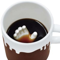 Submerged Hand Coffee Cups - These Halloween Mugs Will Spook Unsuspecting Guests Halloween mugs - These creepy Halloween mugs are designed to have a hand reaching up from the center of the cup. The creative ceramic coffee cup design has a brown . Halloween Kitchen, Halloween Mug, Creepy Halloween, Happy Halloween, Coffee Is Life, I Love Coffee, Black Coffee, Ceramic Coffee Cups, Coffee Mugs