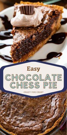 Chocolate Chess Pie, Chocolate Graham Crackers, Graham Cracker Dessert, Graham Cracker Crust, Pie Recipes, Dessert Recipes, Sweet Recipes, Crack Pie, Pie Dessert