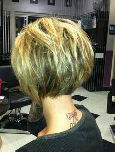 Short Bob Hairstyles 2015 Back View with A Line Bob