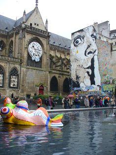 Jef Aérosol, Chuttt!!!, 2011, Paris, place Stravinsky