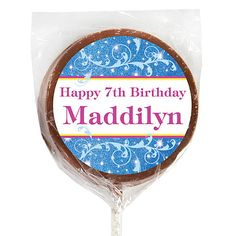 These chocolate lollipops are a sweet favor for your fairytale party!