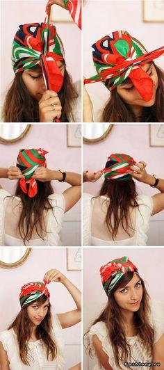завязать платок на голову