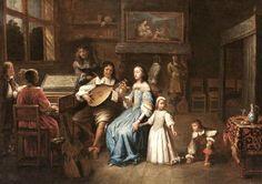 A Music Party (Circle of Pieter Cornelisz. van Slingeland) 1675       A Musical Pary (after Caspar Netscher) after 1665       Anthoni...
