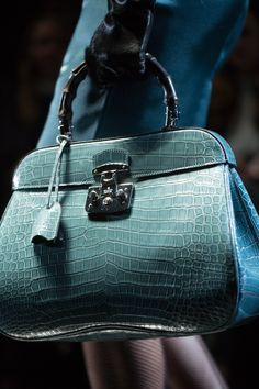 From the Runway: Gucci Lady Lock Python Top Handle Bag
