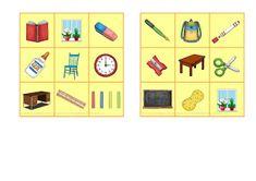 """Reif für die Ferien: Englisch- Bingo zum Thema """"school things and class..."""
