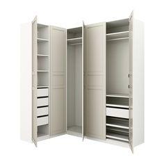 b4b55f5fa636d8 IKEA - PAX white Corner wardrobe Frame colour  white
