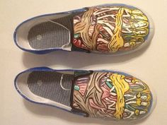 Human foot anatomy hand painted shoes...for my ortho/neuro friends
