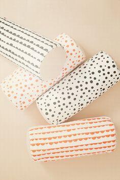 Half Moon Cylinder Neon Cushion design by Ferm Living Bolster Pillow, Throw Pillows, Kids Pillows, Cylinder Pillow, Motifs Textiles, Textile Prints, Deco Design, Baby Decor, Danish Design