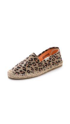 Soludos Leopard Print Flat Espadrilles | SHOPBOP