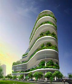 """Ken Yeang: """"Debemos repensar nuestras ciudades"""" Fusionopolis in Singapore"""