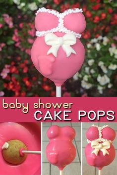 How cute would these cake pops be as a baby shower party favor! Pink for a girl or blue for a boy. I can't believe how easy they are to make.