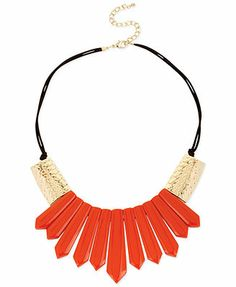 Haskell Gold-Tone Geometric Stick Frontal Statement Necklace