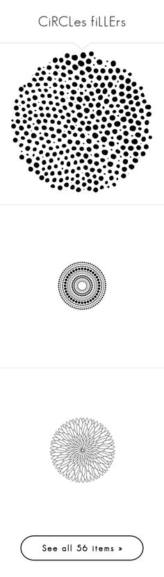 """CiRCLes fiLLErs"" by ohblack on Polyvore featuring circles, fillers, backgrounds, effects, black, round, doodles, circular, picture frame e borders"