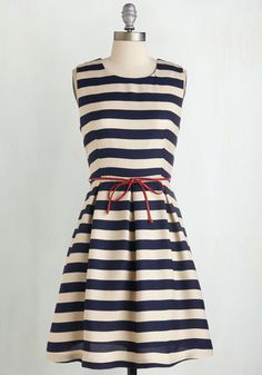 Line and Dine Dress, @ModCloth
