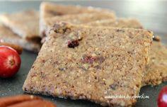 Grain Free Cranberry Pecan Crackers Recipe (Dairy Free) www.kateshealthycupboard.com