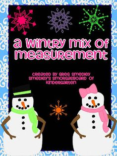 $ A wintry mix of measuring!  Use snowflakes to measure winter pictures!