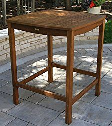 Outdoor Interiors Square Bar Height Dining Table