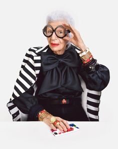 THE adorable Iris Apfel! This is who I'm going to be.