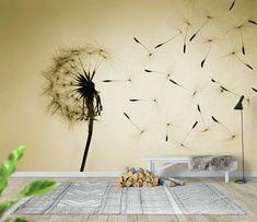 Bedroom Wall Designs, Decoration, Wall Murals, Wall Stickers, Dandelion, Living Room, Wallpaper, Furniture, Home Decor