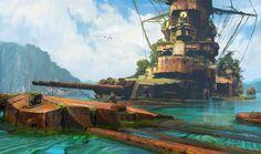 Abandoned ship by Sergey Vasnev