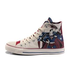 b1d94ba48e8a Converse Shoes Blue White Authentic DC Comics- Superman Chuck Taylor All  Star Womens Mens Canvas Sneakers High Tops - Dereo Shop