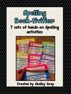 Spelling Book-tivities: 7 hands-on spelling booklet activities {$}