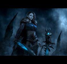 FROSTWHISPER female warrior