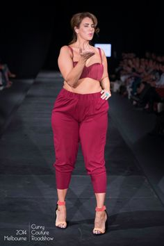Robyn Lawley Swimwear   Tapered Harem Pant, Rouge Model: Tara Laughton, Bella Model Management Source: Meagan Harding Photography