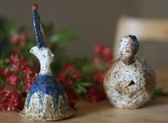 Blue ceramic bell / sculpture SALE by erinswindow on Etsy Window, Ceramics, Sculpture, Christmas Ornaments, Holiday Decor, Blue, Etsy, Ceramica, Pottery
