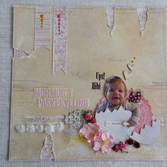 Layout - grandmums easterchicken Children, Birthday, Frame, Cards, Handmade, Layouts, Scrapbooking, Home Decor, Toddlers