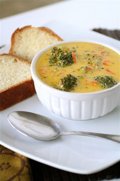 Broccoli Cheddar Soup | The Curvy Carrot Broccoli Cheddar Soup | Healthy and Indulgent Meals Dangling in Front of You