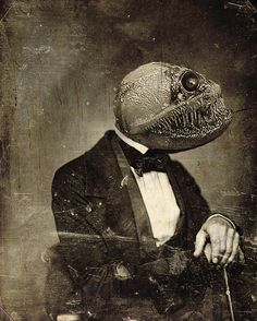 . . . I can't figure out where my Lamprey headgear is.  Despite the tuxedo last night's villian left with me at the aquarium, I feel I've been used.