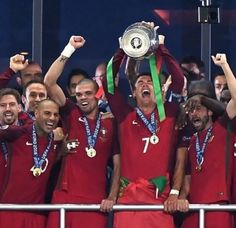 Substitute Eder played the role of hero in lieu of an injured Cristiano Ronaldo as the Portugal scored in the minute to send Fernando Santos' side past UEFA EURO 2016 hosts France and into next year's FIFA Confederations Cup. Cristiano Ronaldo Portugal, Cristiano Ronaldo Cr7, Swansea, Psg, Portugal Euro 2016, Euro France, Portugal Soccer, Portugal Team, Copa America Centenario