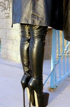 Leather High Heel Boots, Black High Boots, Thigh High Boots Heels, Heeled Boots, Crotch Boots, Extreme High Heels, Sexy Boots, Shoes, Long Boots