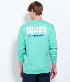 Men's T-Shirts: Long-Sleeve Tarpon Shadow T-Shirt for Men - Vineyard Vines