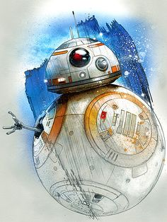 Star Wars The Last Jedi Promotional Art - BB-8 #starwars #thelastjedi